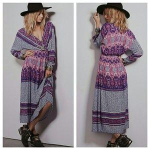 NWT Free People Royal Combo Paisley Boho Dress